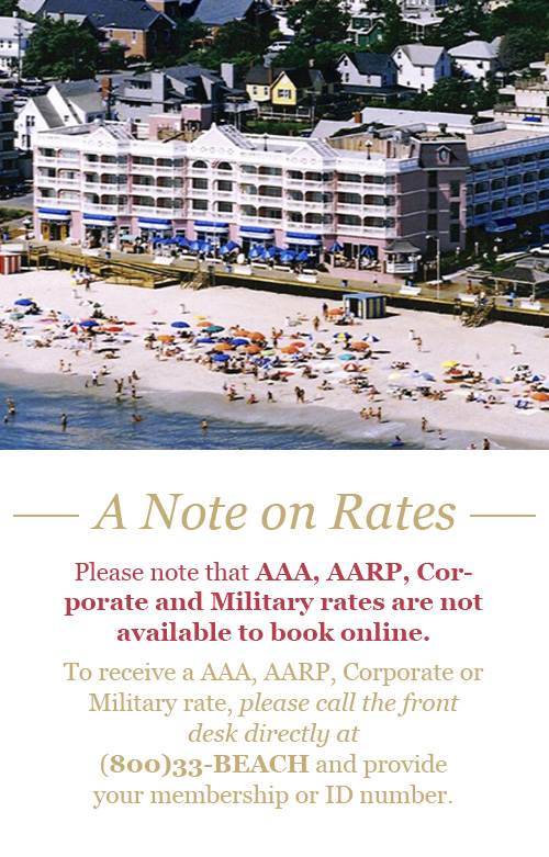 To receive AAA, AARP, Corporate or Military rate, please call the front desk directly