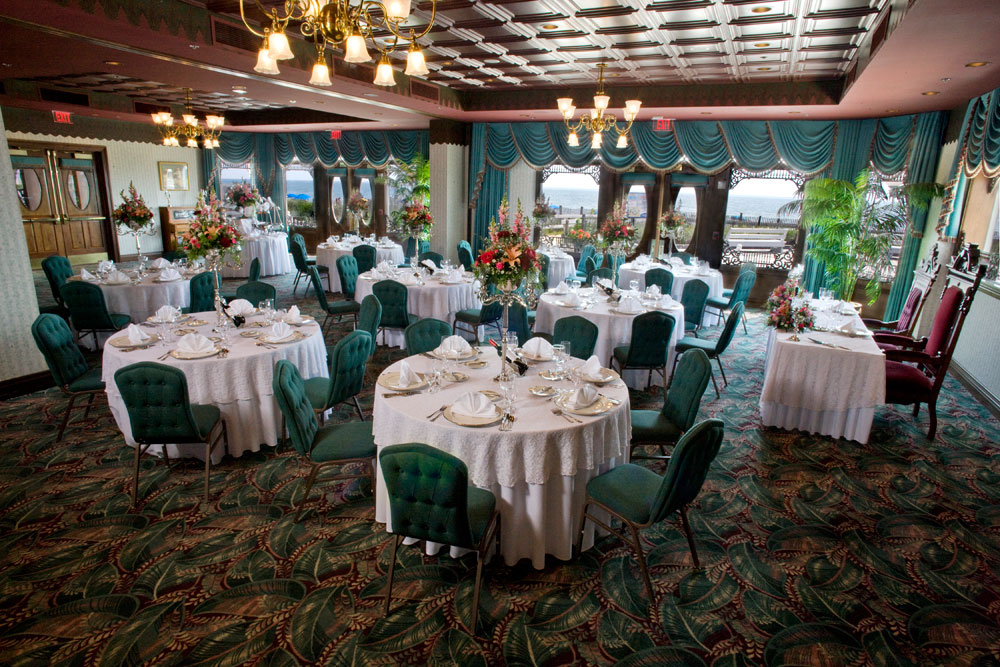 Banquet hall setup for a weeding
