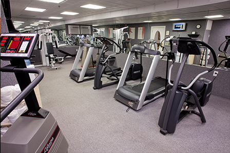 Fitness Room with treadmills ellipticals