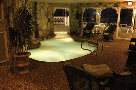 Heated indoor pool at the Boardwalk Plaza hotel