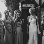 Bride and Bridal Party Talking