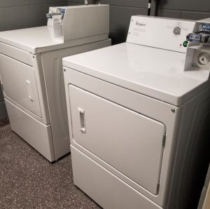 Washer and dryer in the laundry room